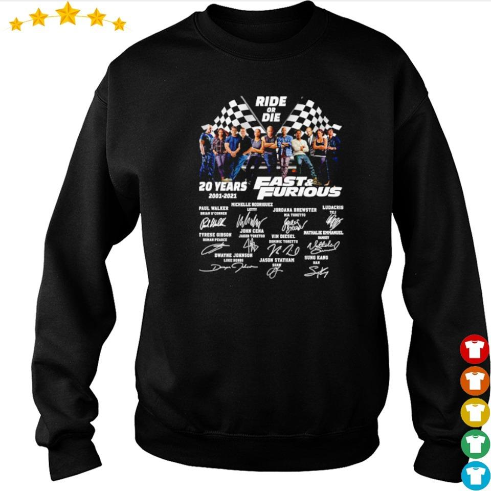 Ride or Die 20 years of Fast and Furious signatures s sweater