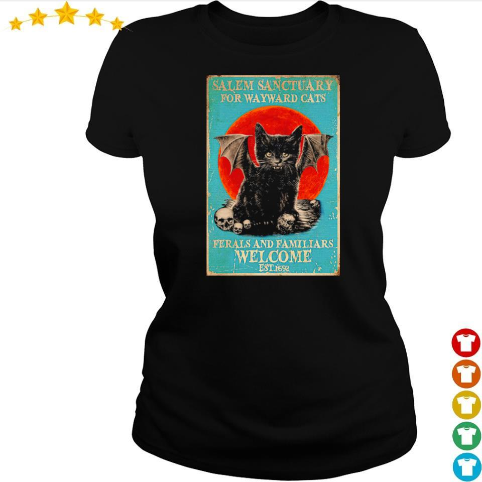 Salem sanctuary for wayward cats ferals and familiars welcome est 1692 s ladies tee