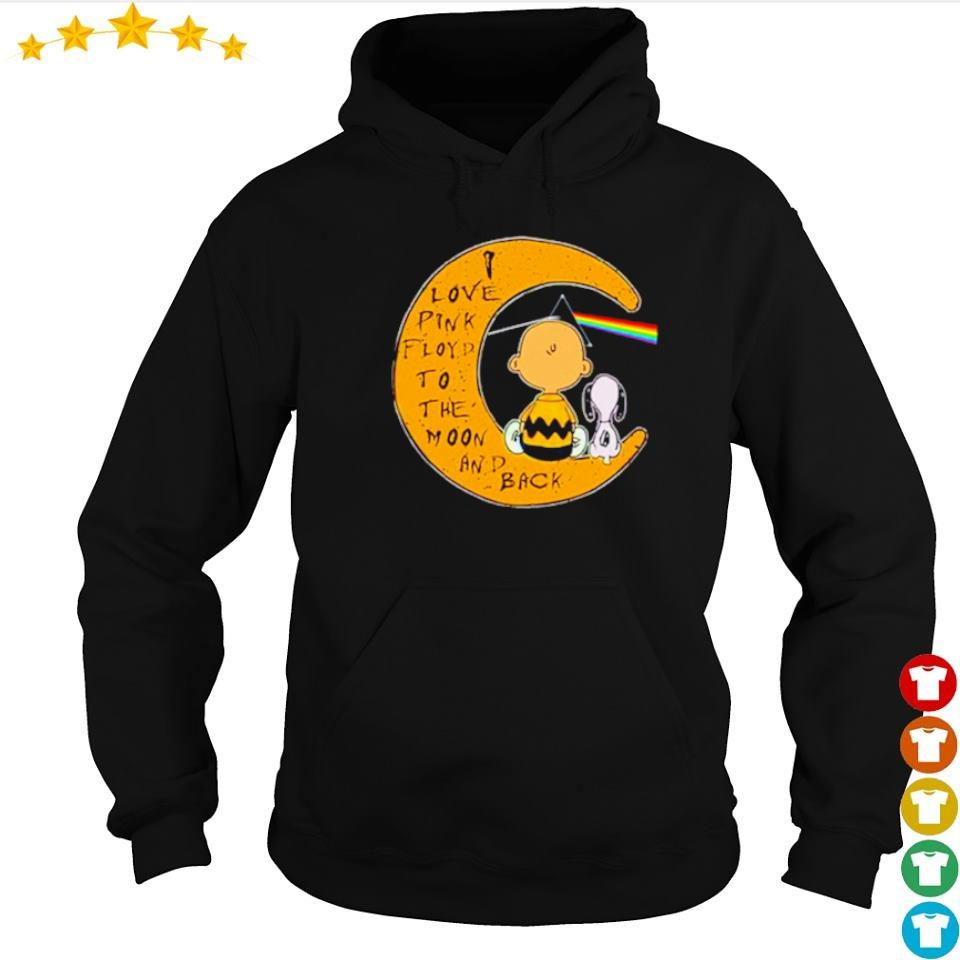 Snoopy and Charlie I love Pink Floyd to the moon and back s hoodie