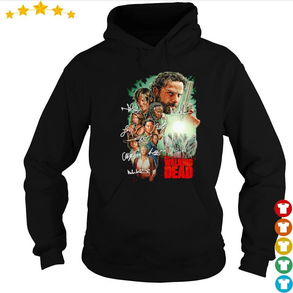 The Walking Dead characters's signature s hoodie