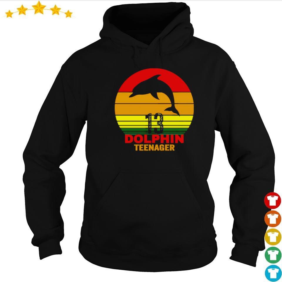 13 dolphin teenager s hoodie
