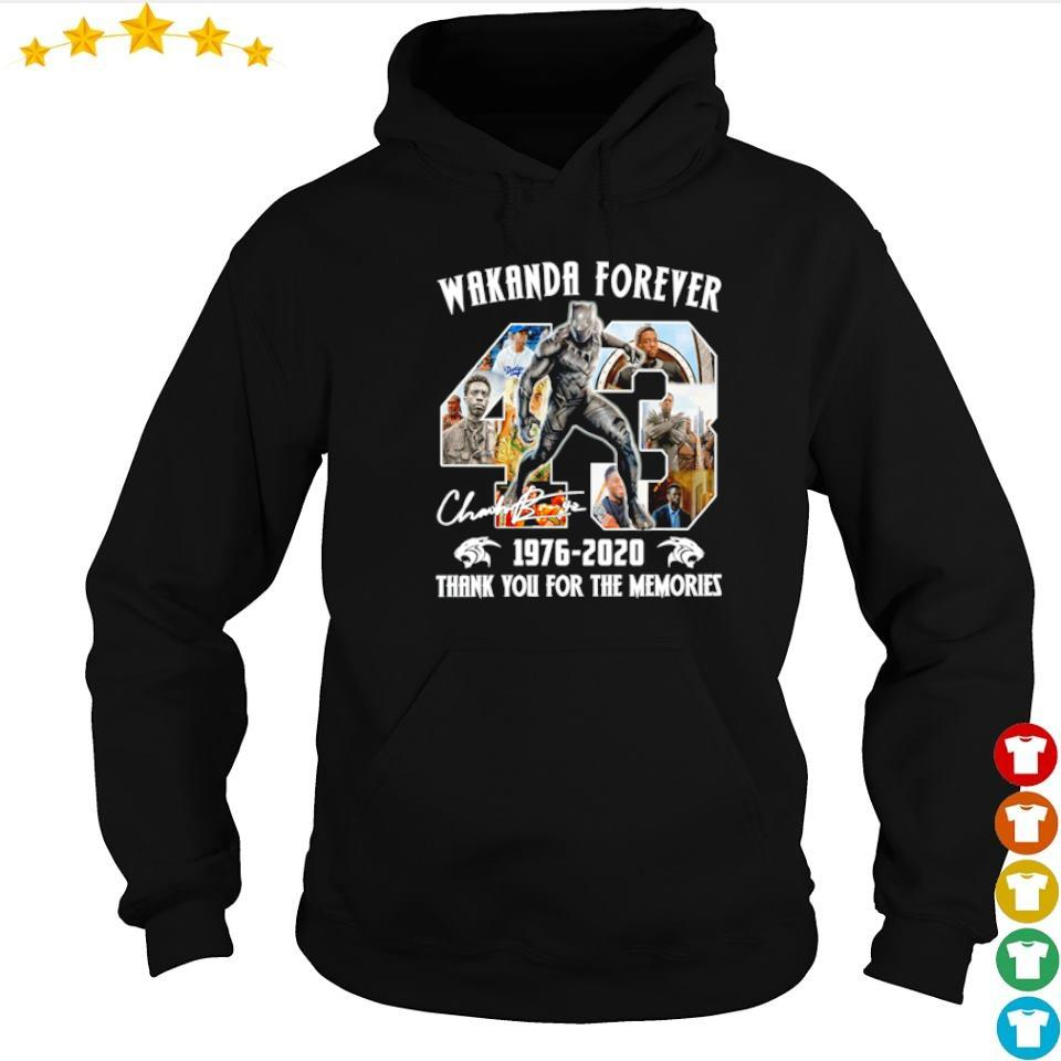 43 years of Chadwick Boseman Wakanda Forever 1976 2020 thank you for the memories s hoodie