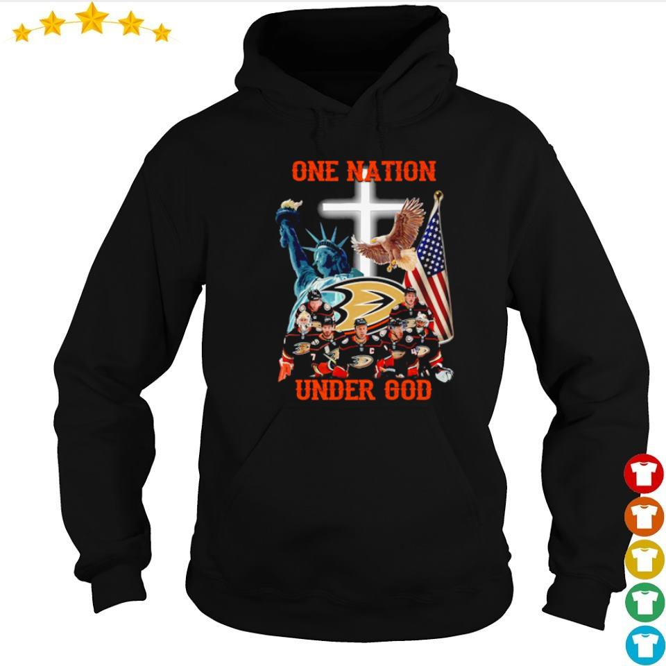Anaheim Ducks one nation under God American Flag s hoodie