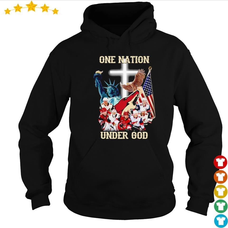 Arizona Coyotes one nation under God American Flag s hoodie