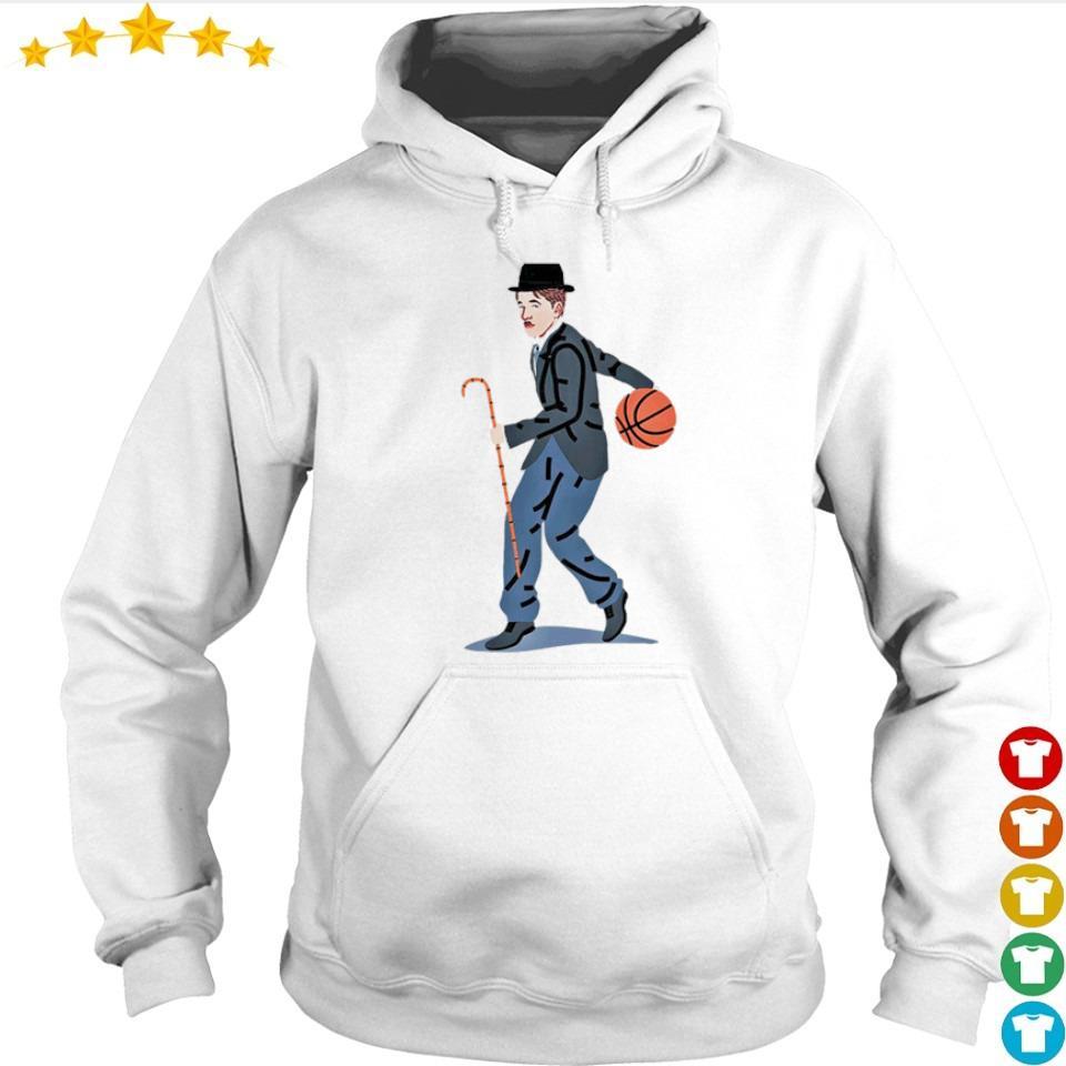 Balling Chaplin playing basketball art s hoodie