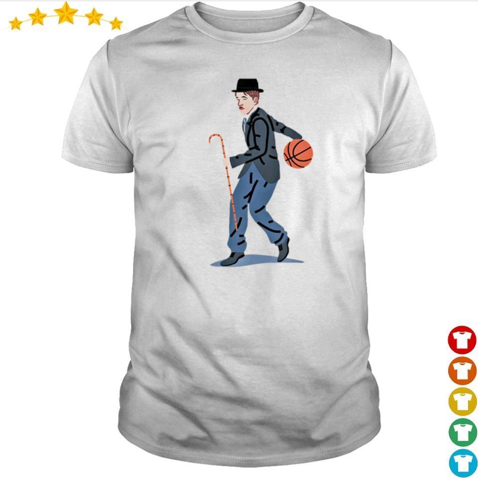 Balling Chaplin playing basketball art shirt
