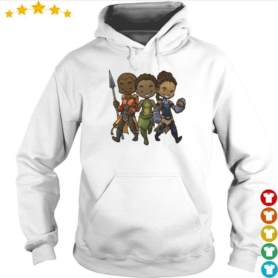 Black Panther Chibi Okoye Nakia and Shuri s hoodie