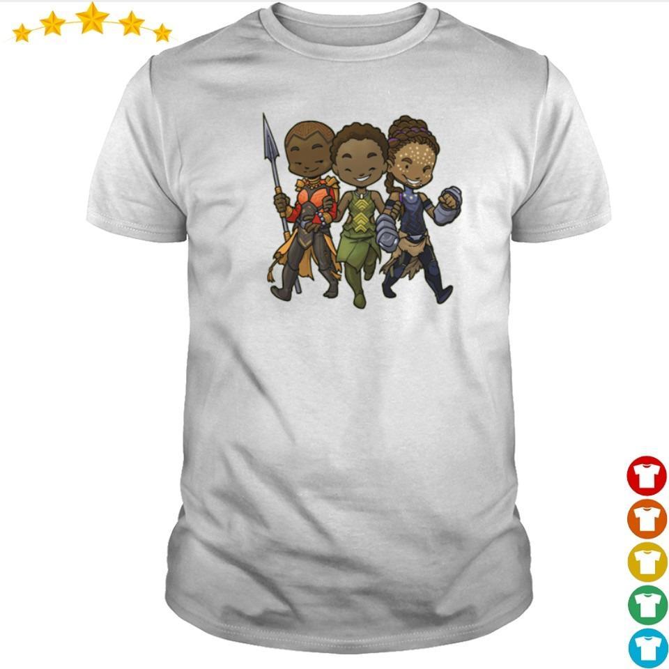 Black Panther Chibi Okoye Nakia and Shuri shirt
