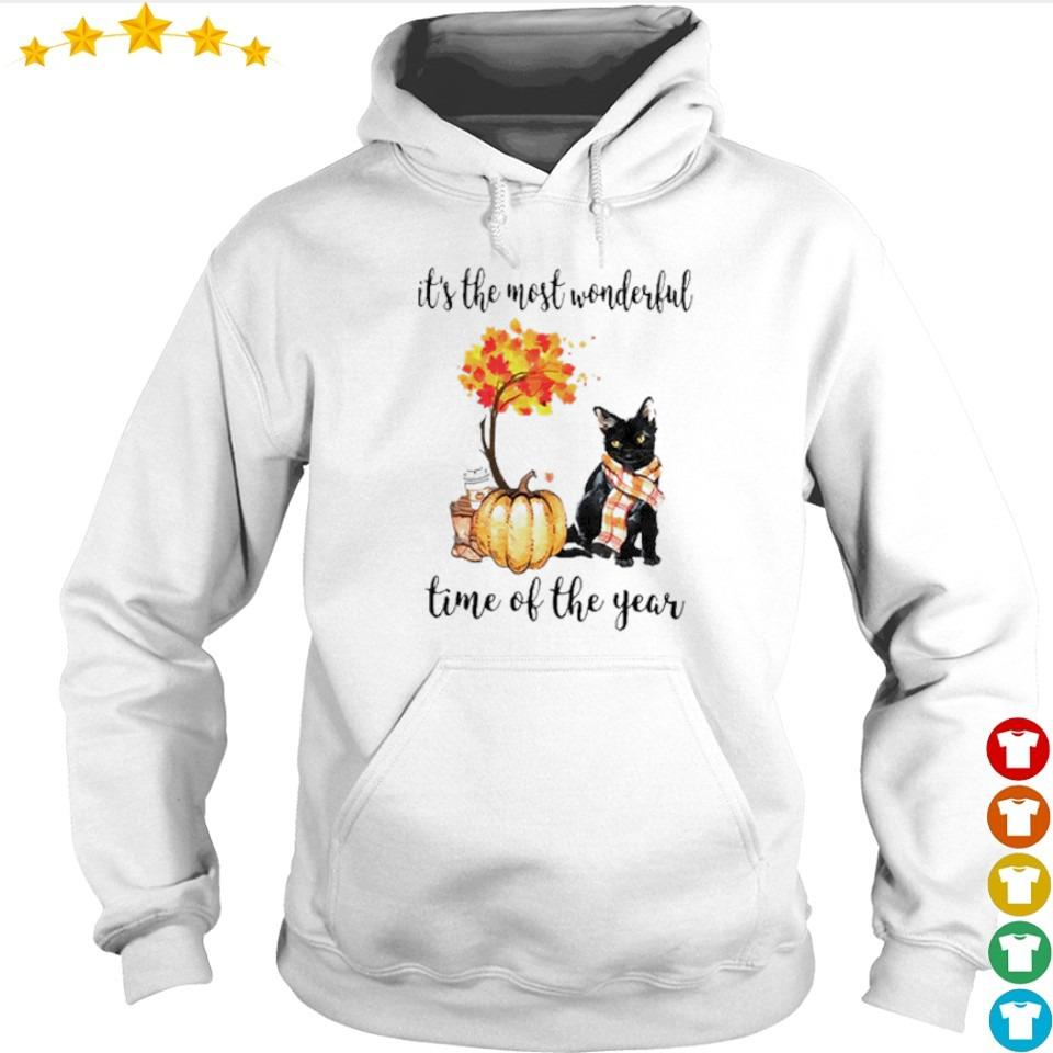 Cat Fall pumpkin it's the most wonderful time of the year s hoodie