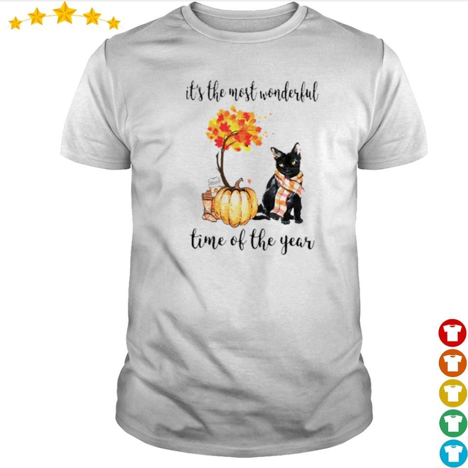 Cat Fall pumpkin it's the most wonderful time of the year shirt