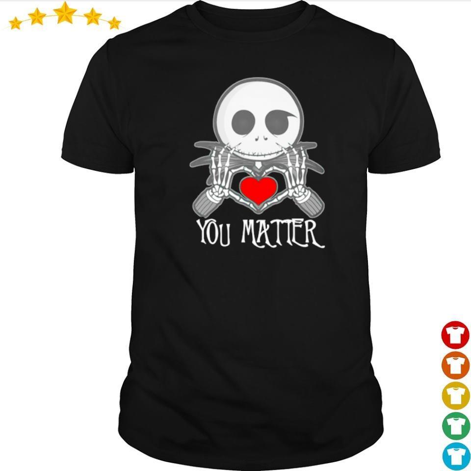 Chibi Jack Skellington love you matter shirt