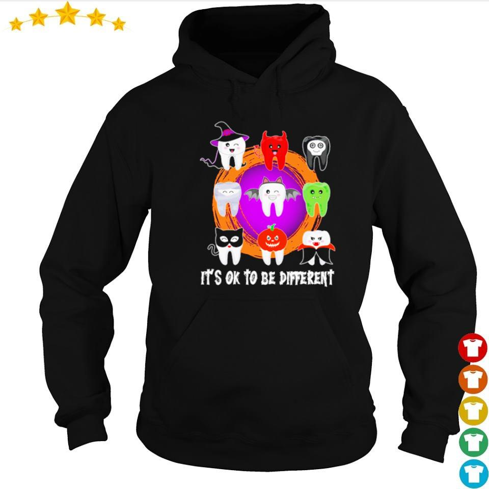 Dental Halloween it's ok to be different s hoodie
