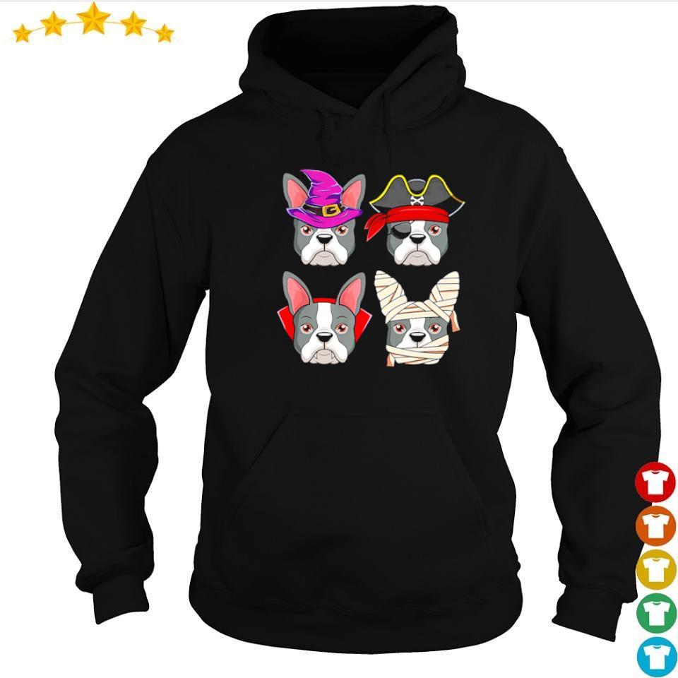 Happy Halloween Boston Terrier costume s hoodie