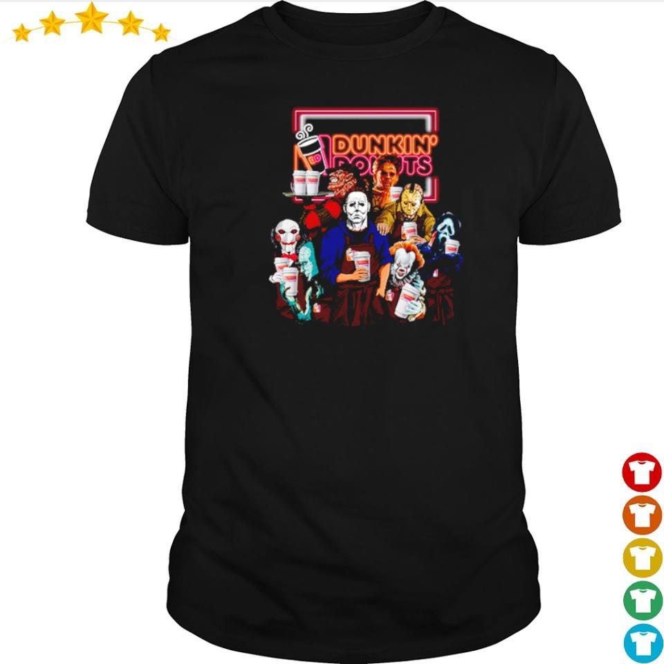 Horror movie character love Dunkin' Donuts shirt