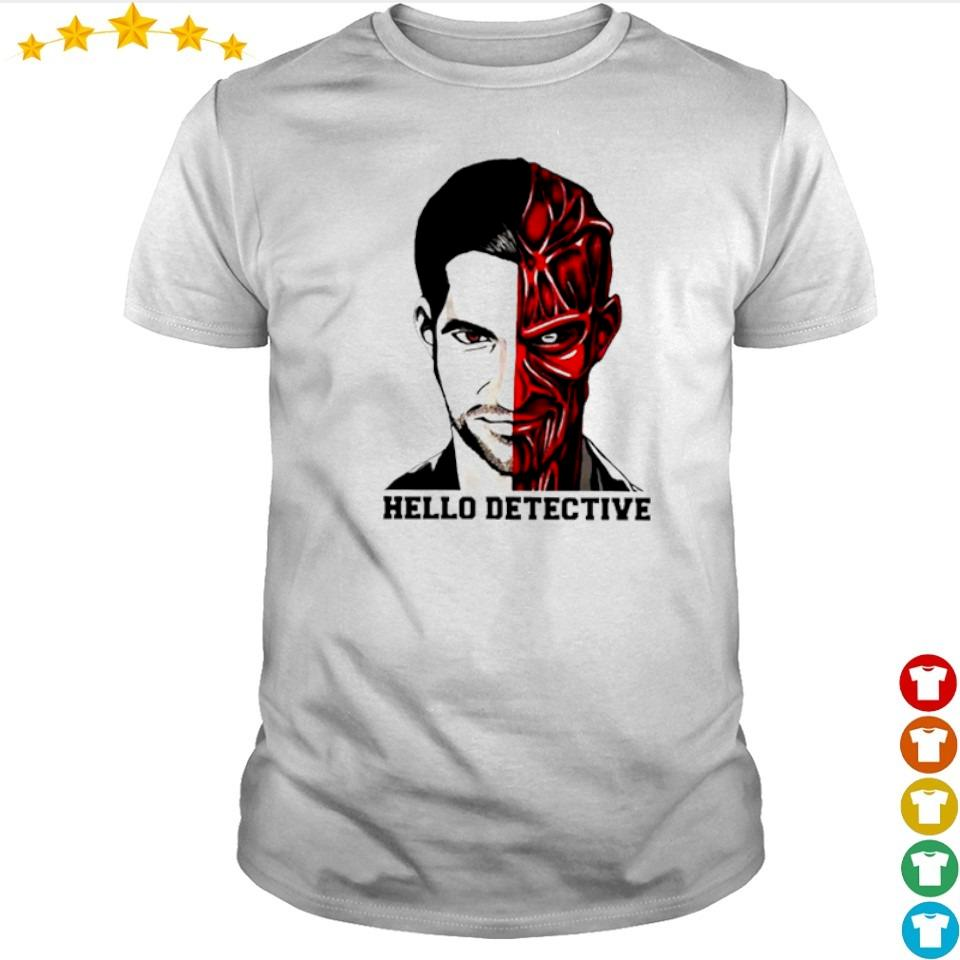 Lucifer Morningstar Half Man half Satan hello detective shirt