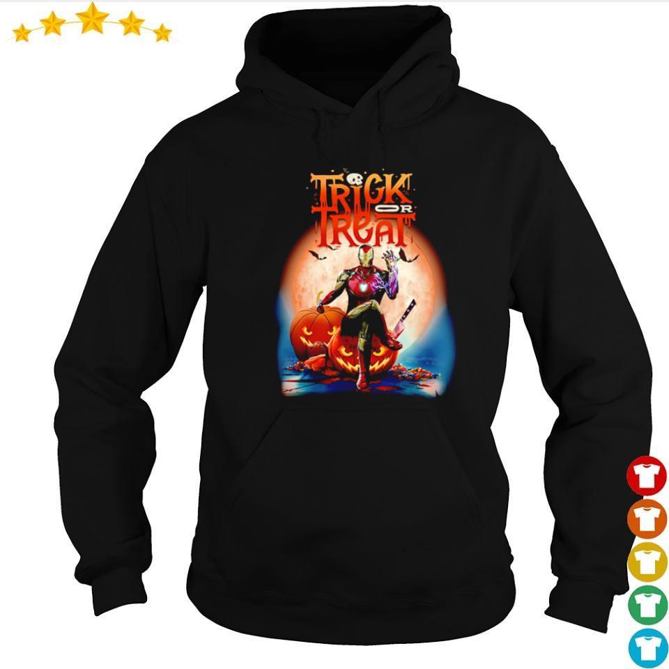Marvel Iron Man trick or treat happy Halloween s hoodie
