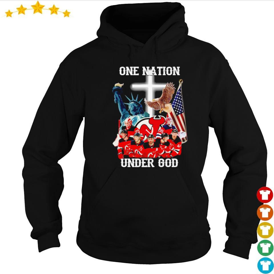 New Jersey Devils one nation under God American Flag s hoodie
