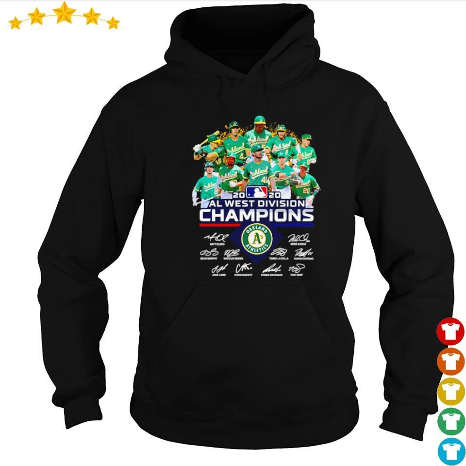 Oakland Athletics 2020 AL west division champions signatures s hoodie