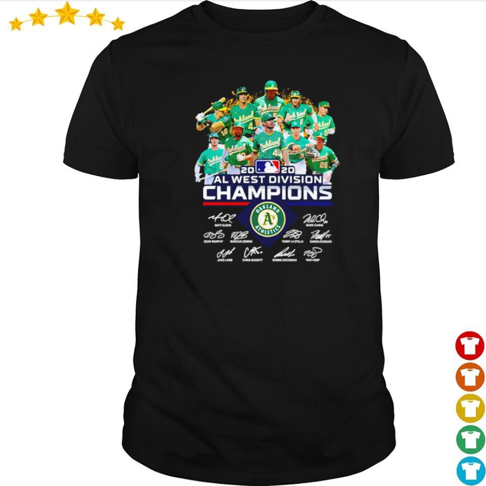 Oakland Athletics 2020 AL west division champions signatures shirt