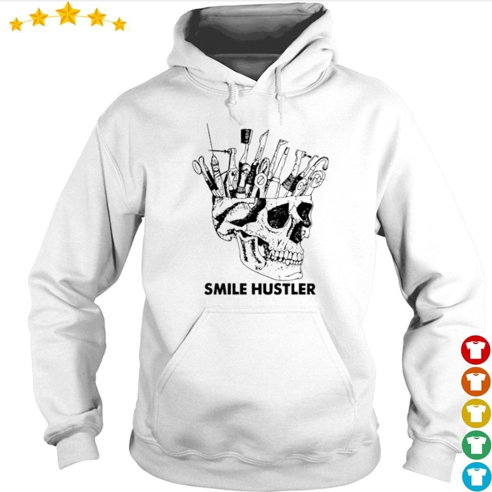 Official broken skull smile hustler s hoodie
