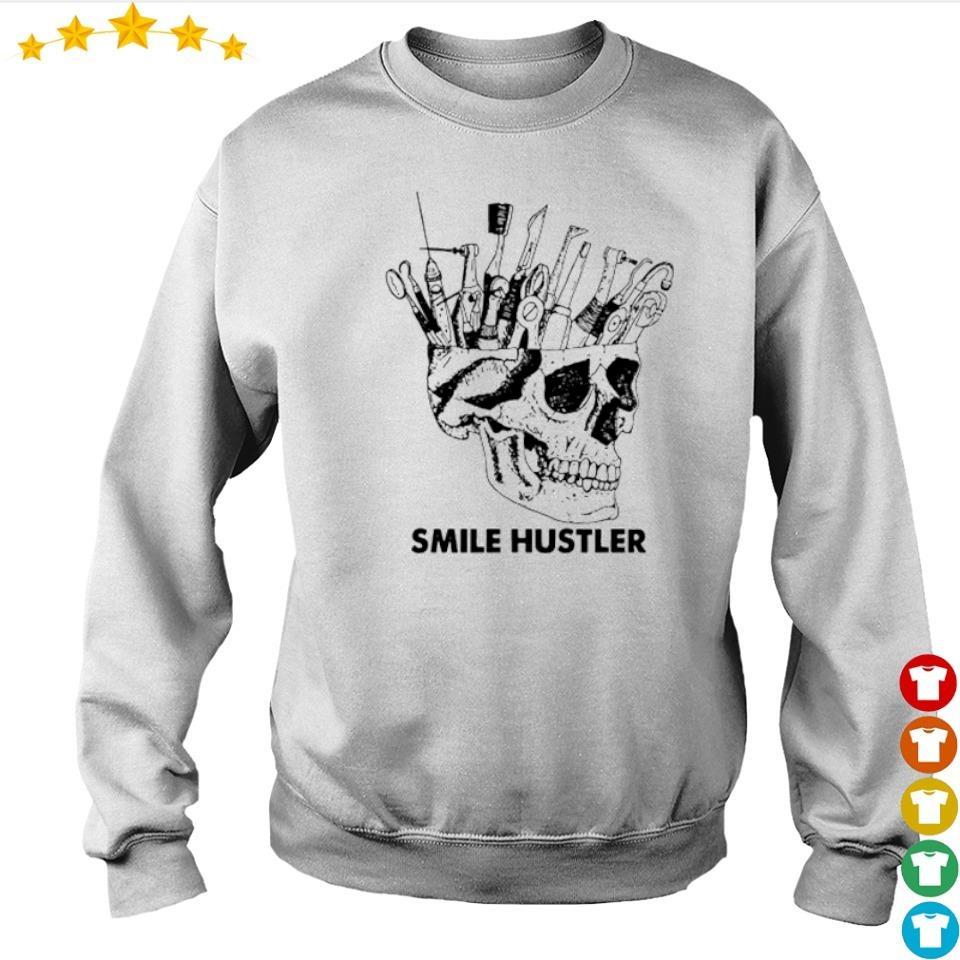 Official broken skull smile hustler s sweater