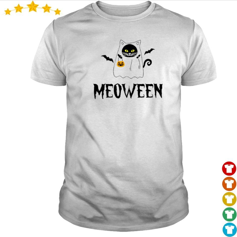 Official cute meoween happy Halloween shirt