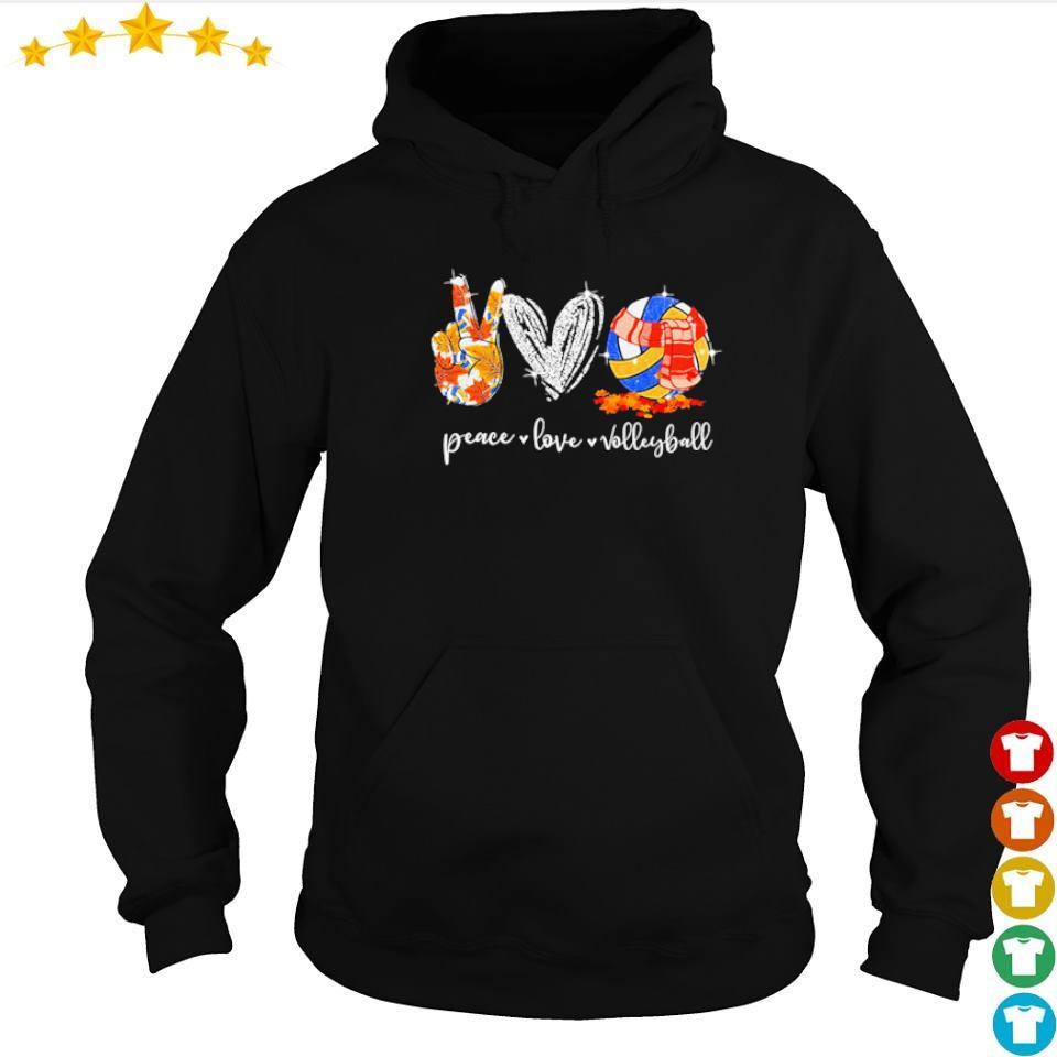 Peace love volleyball autumn diamond s hoodie