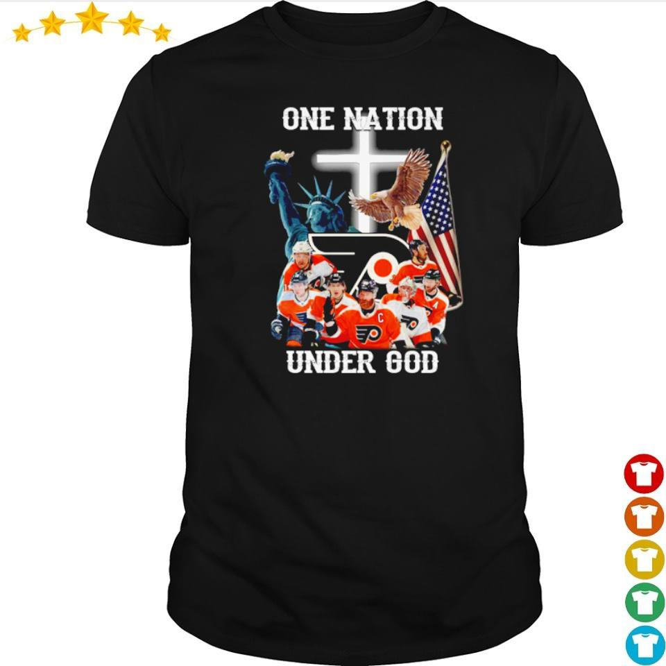 Philadelphia Flyers one nation under God American Flag shirt