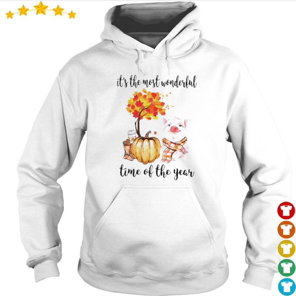 Pig Fall pumpkin it's the most wonderful time of the year s hoodie