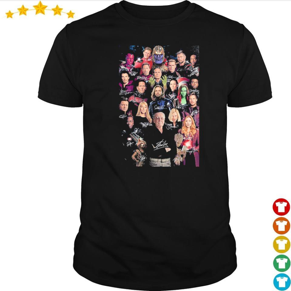 RIP Stan Lee Marvel Studio characters signature shirt