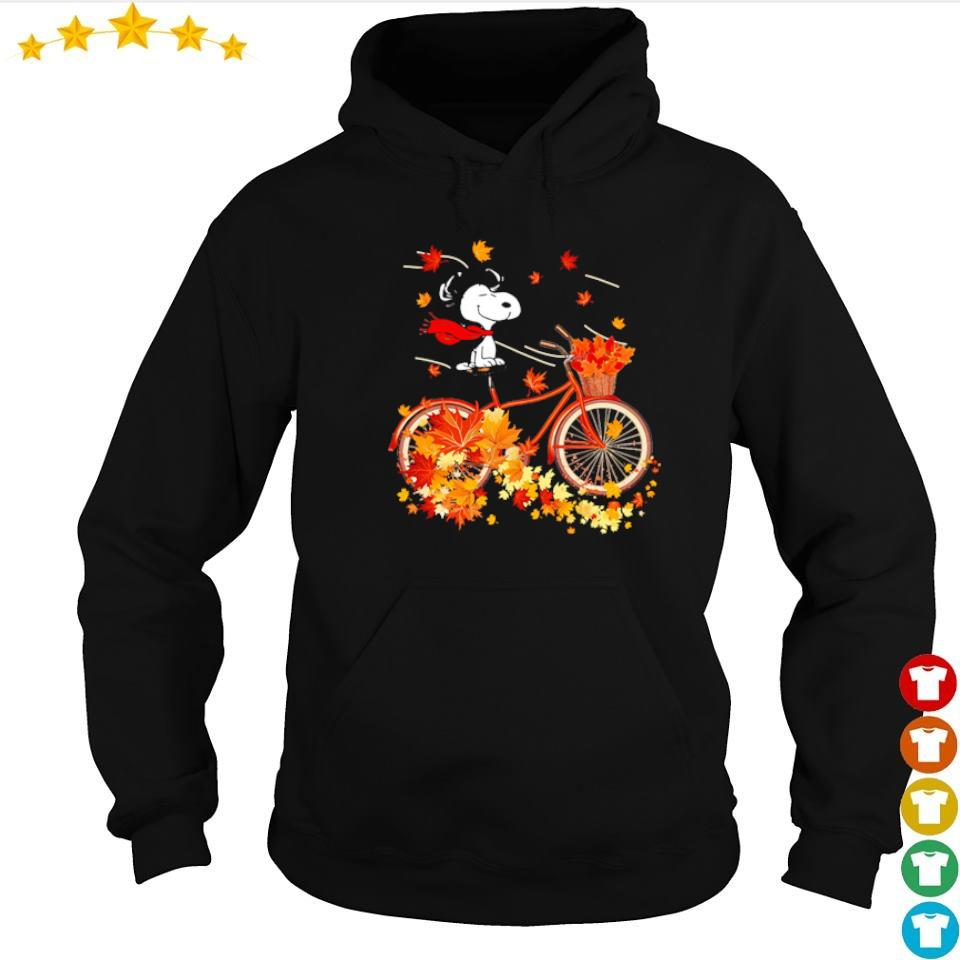 Snoopy riding bike chilling in Autumn s hoodie