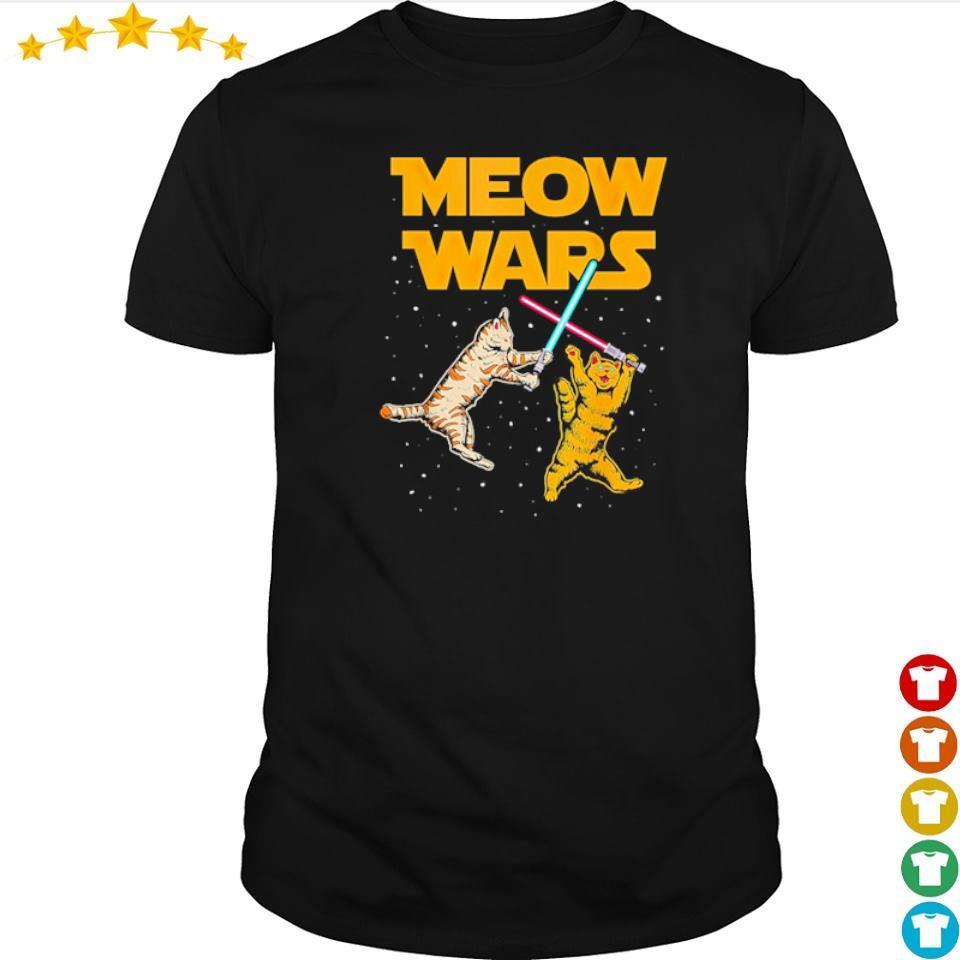 Star Wars Cat Fighting Meow Wars shirt
