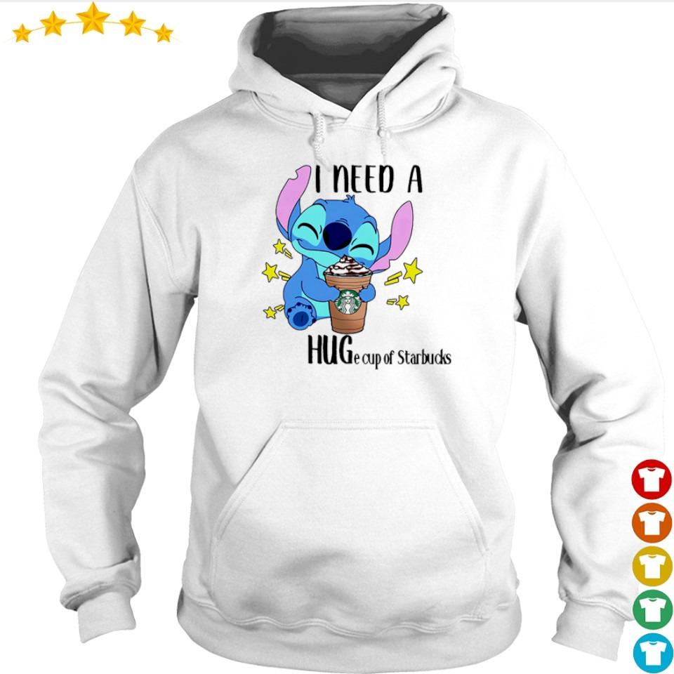 Stitch I need a huge cup of Starbucks s hoodie