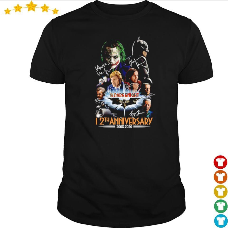 The Dark Knight 12th anniversary 2008 2020 signatures shirt