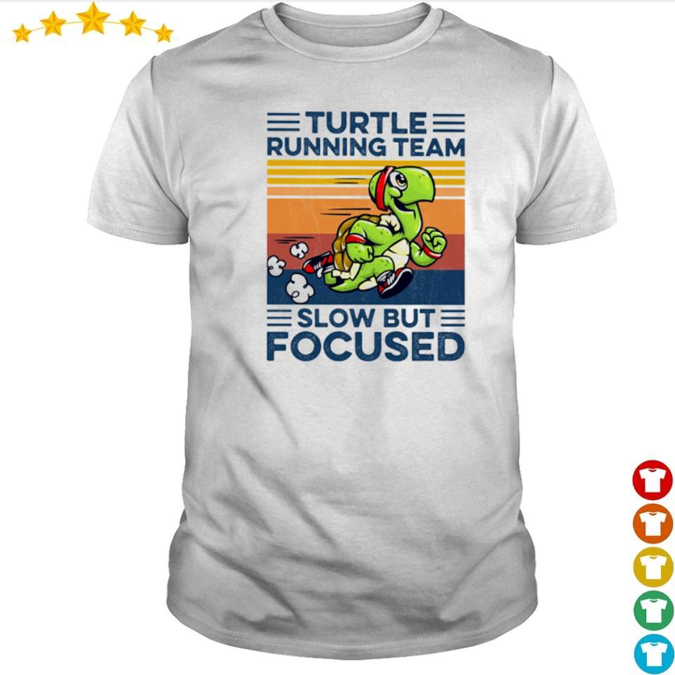 Turtle running team slow but focused vintage shirt