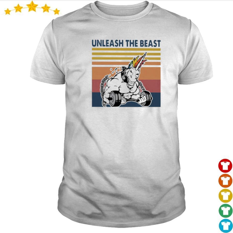 Unicorn unleash the beast fitness vintage shirt
