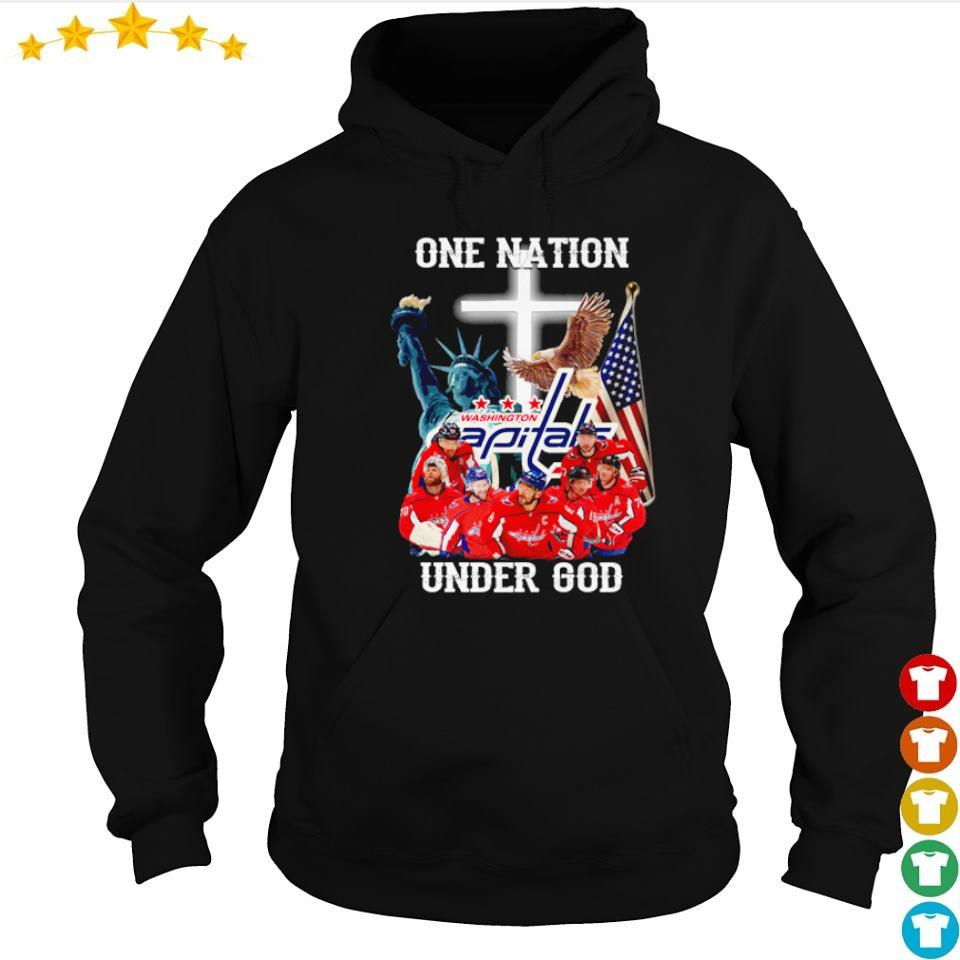 Washington Capitals one nation under God American Flag s hoodie