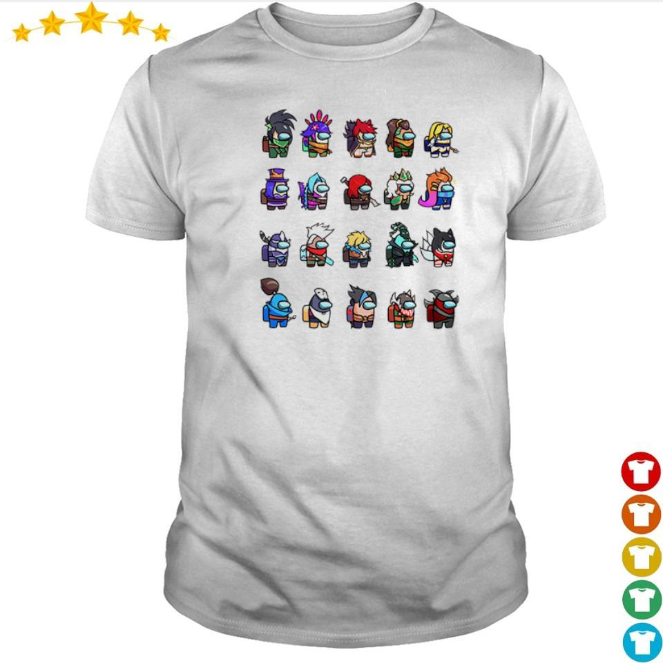 Among Us x League of Legends gams shirt