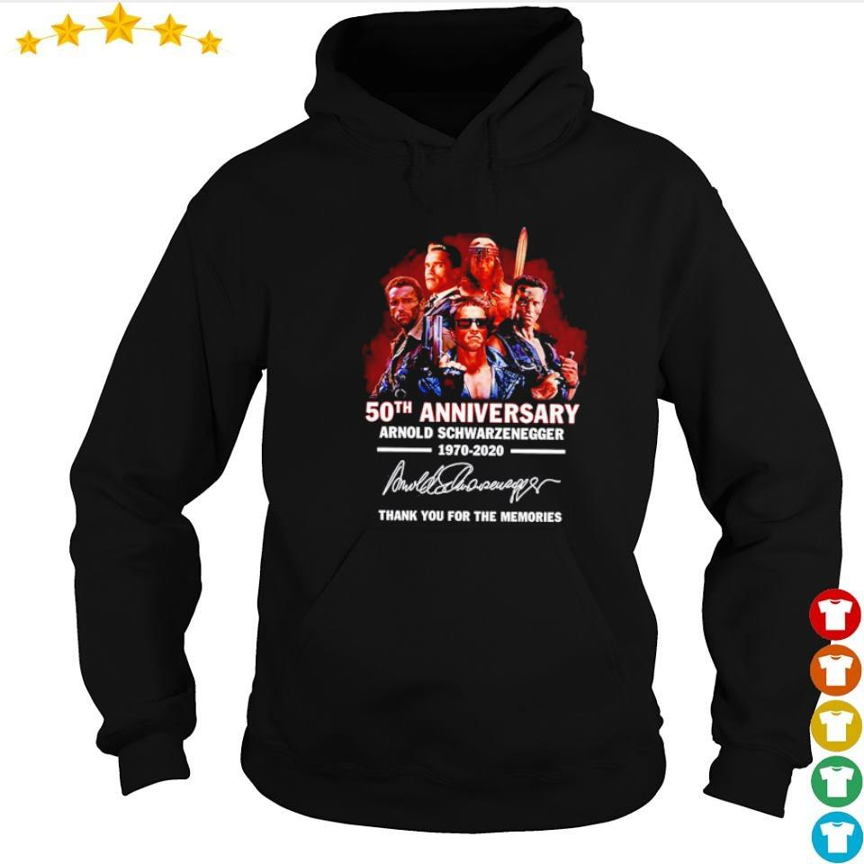 Arnold Schwarzenegger 50th anniversary thank you for the memories s hoodie