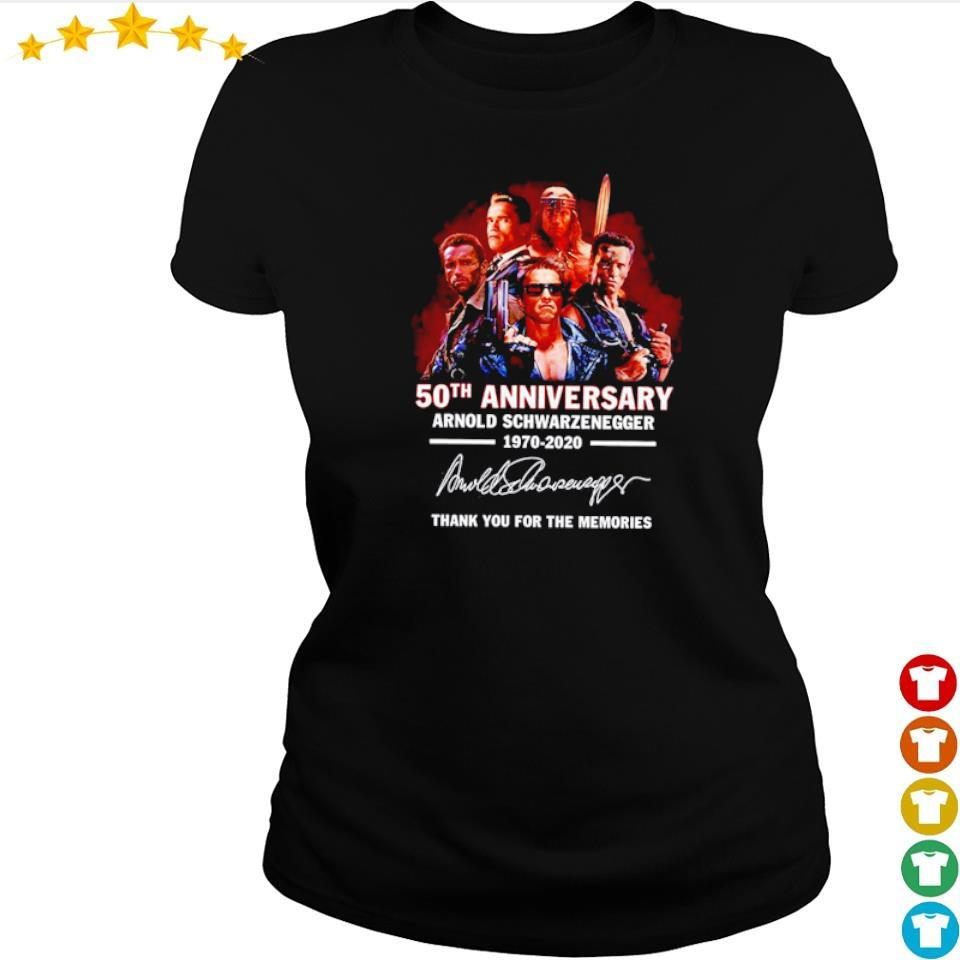 Arnold Schwarzenegger 50th anniversary thank you for the memories s ladies tee