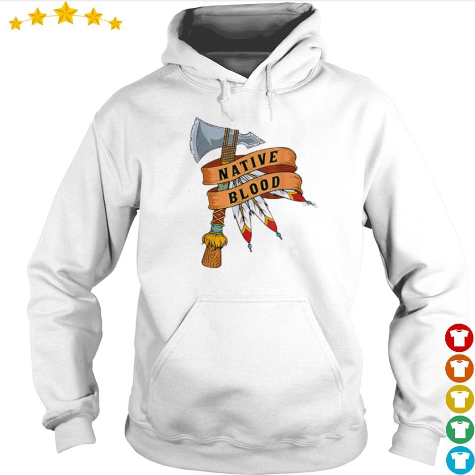 Awesome Native American blood s hoodie
