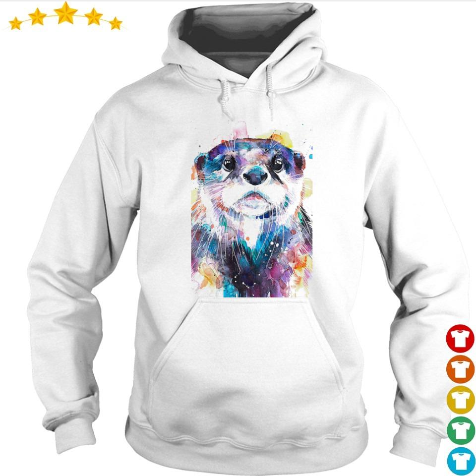 Awesome otter watercolor art s hoodie