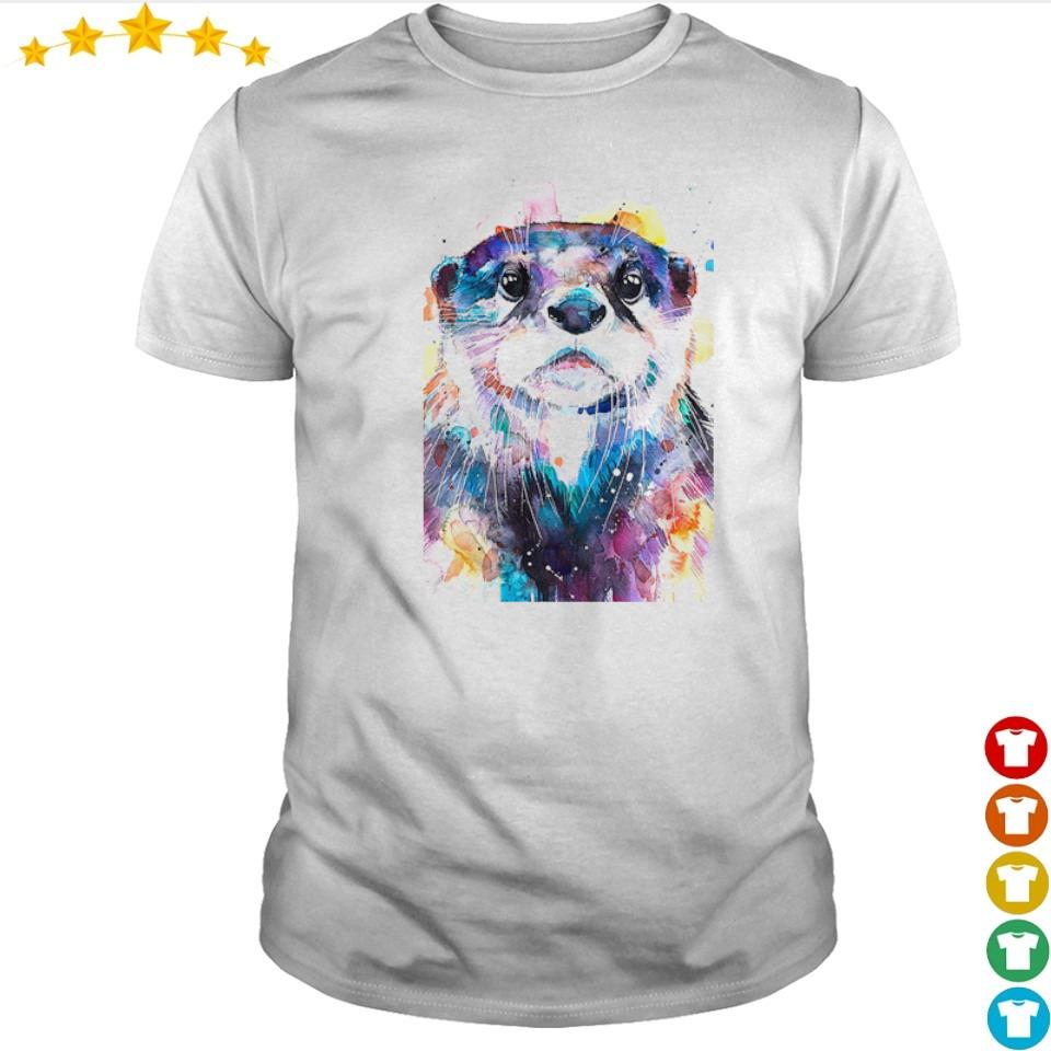 Awesome otter watercolor art shirt