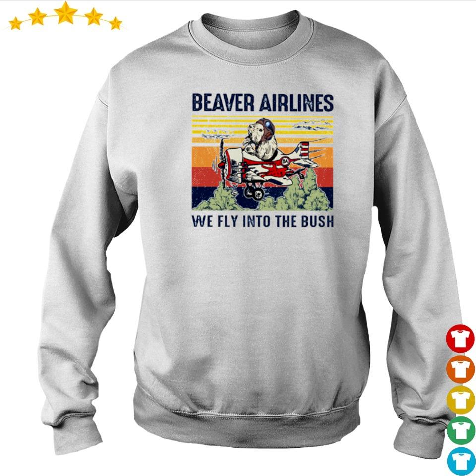 Beaver airlines we fly into the bush vintage s sweater