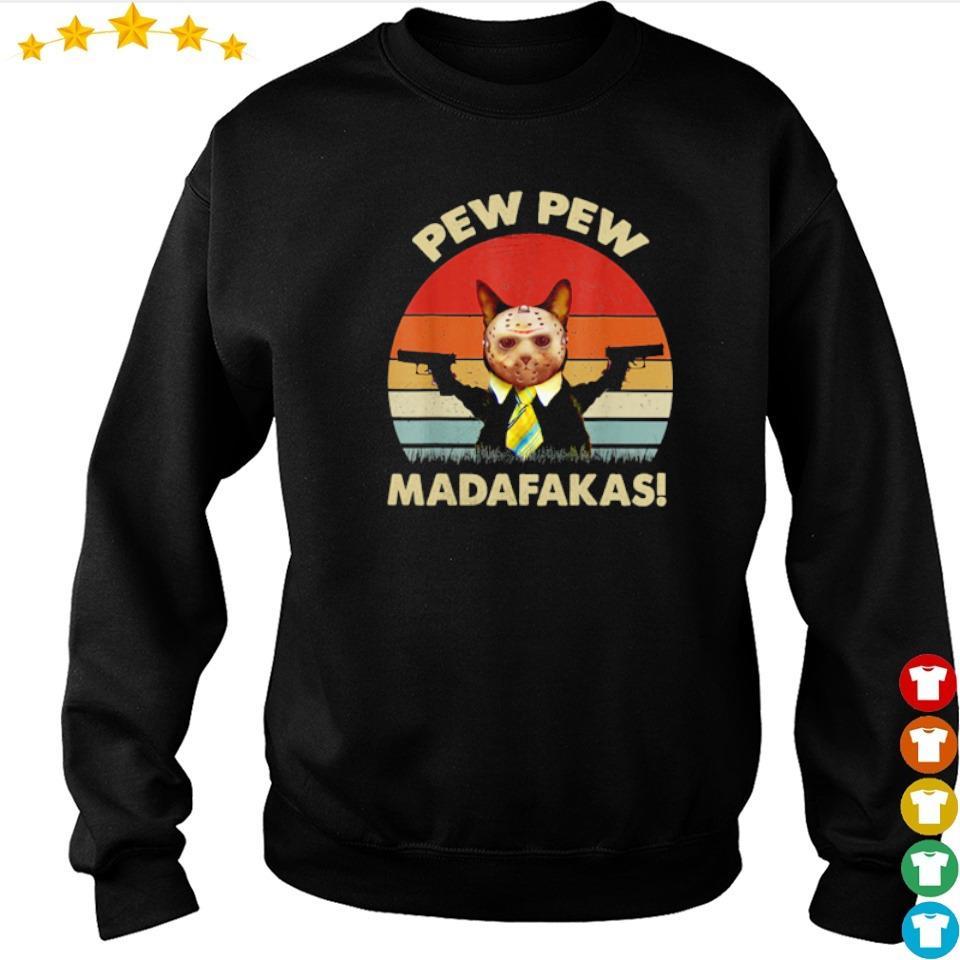 Cat Jason Voorhees pew pew madafakas s sweater