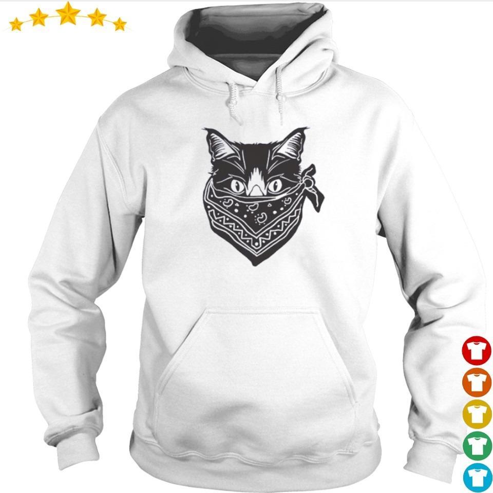 Cat wearing mask quarantine s hoodie