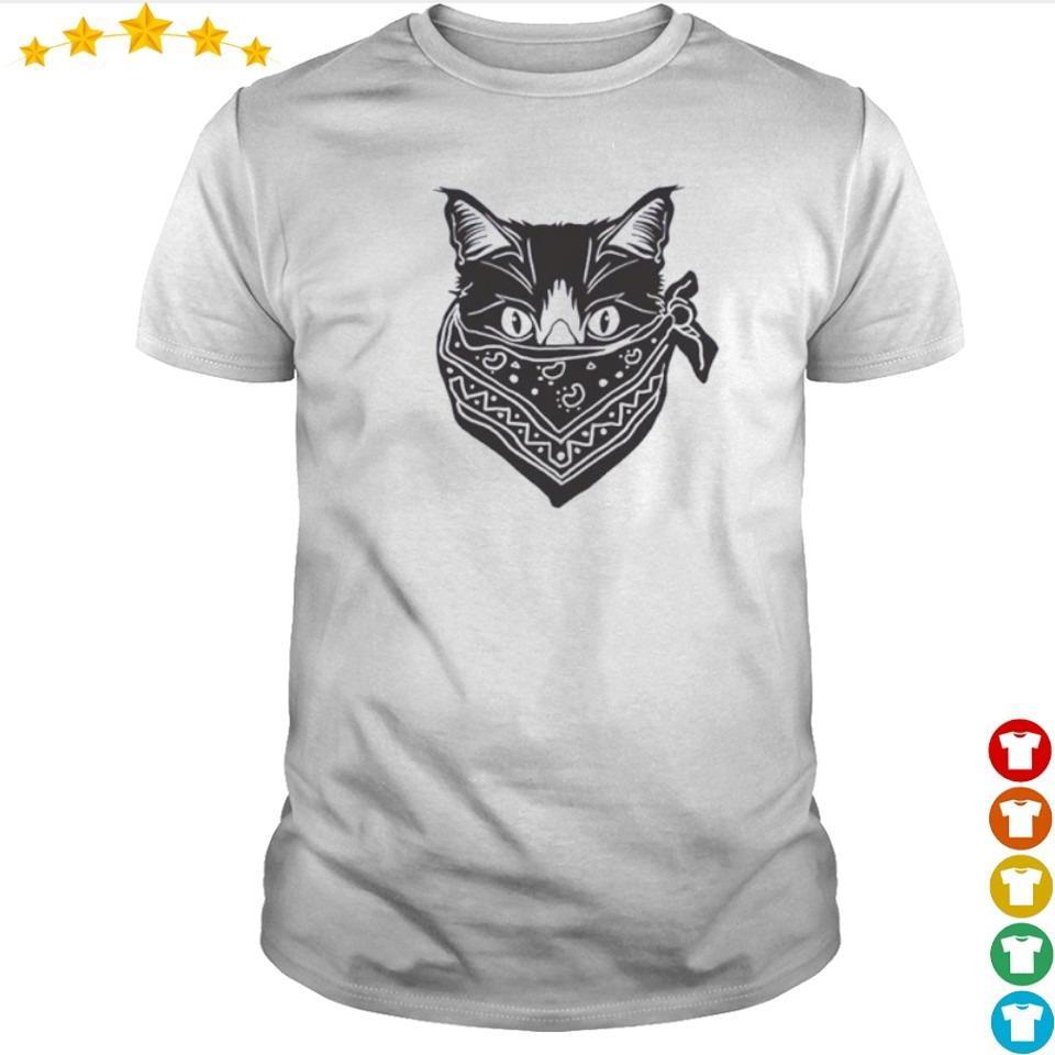 Cat wearing mask quarantine shirt