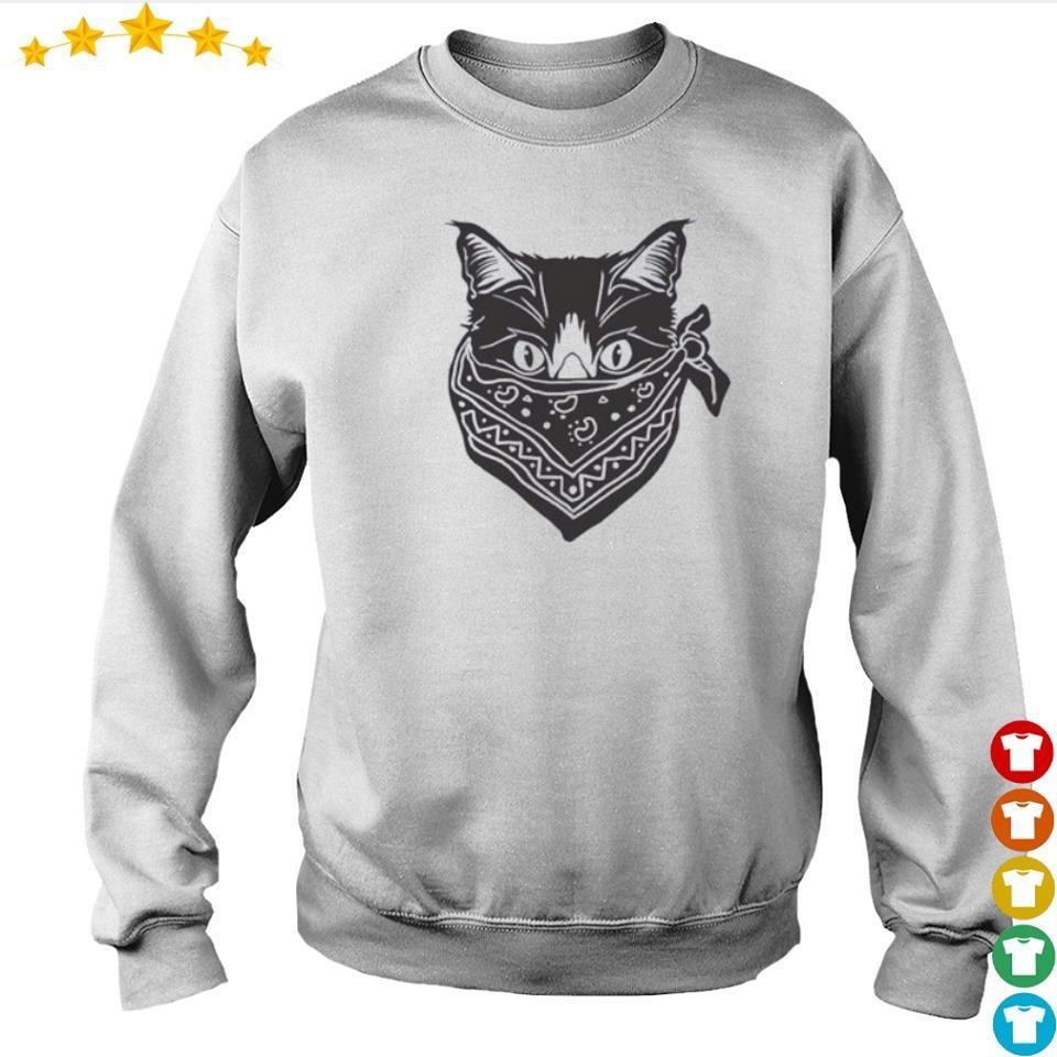 Cat wearing mask quarantine s sweater
