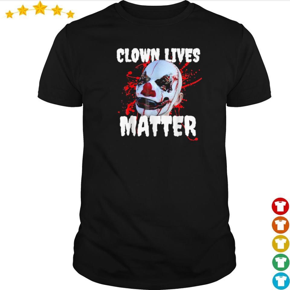 Clown lives matter happy Halloween shirt