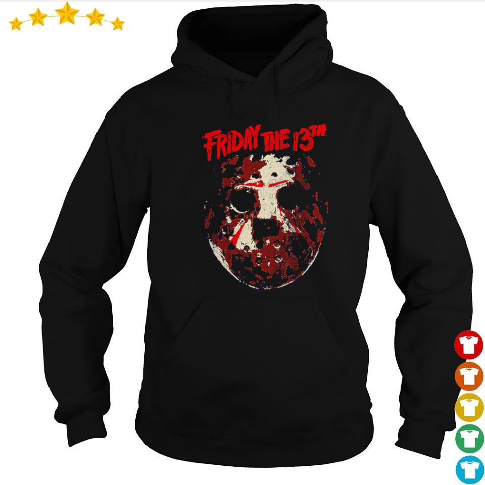 Distressed hockey mask Friday the 13th s hoodie